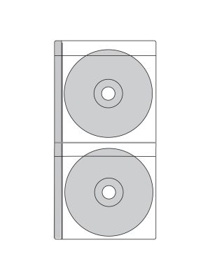 Double CD/DVD Pocket - 2 Pockets per page