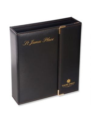 leather ring binder with flap
