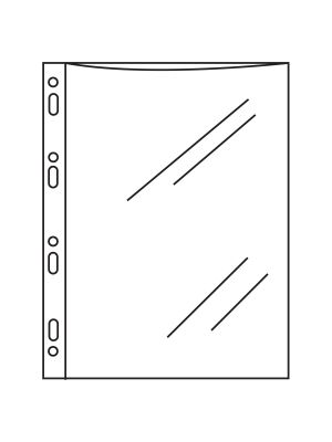 U.S Quarto PP Pocket with Punched Margin (45 micron) (Pack of 100)