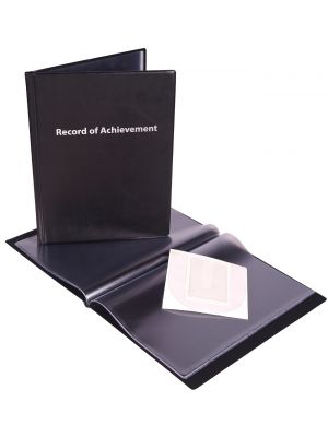 record of achievement folder black