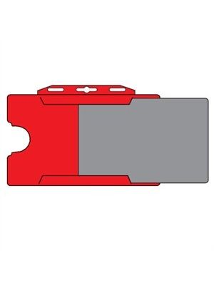 Red Plastic Landscape ID Card Holder