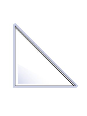 Self, Adhesive, Triangle, Corner, Pocket